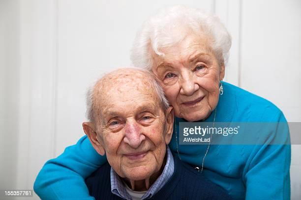 Senior couple married 69 years; focus on man