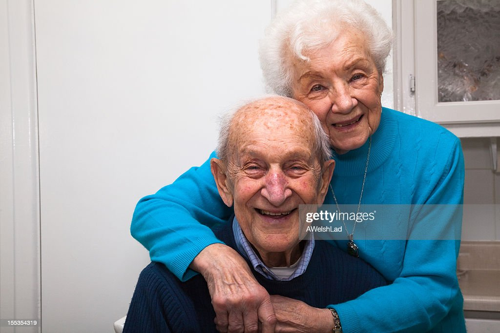 Senior couple married 69 years in their kitchen