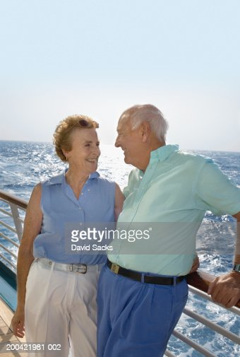Retired Couple On A Cruise Stock Photos And Pictures