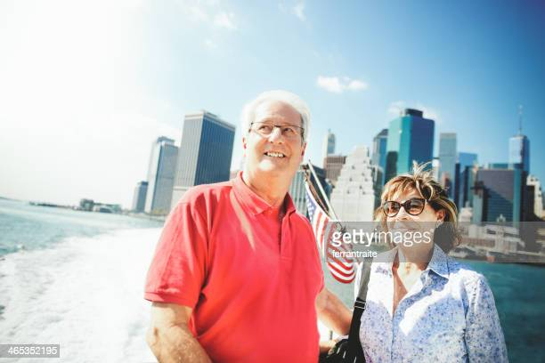 Senior Couple on New York Ferry