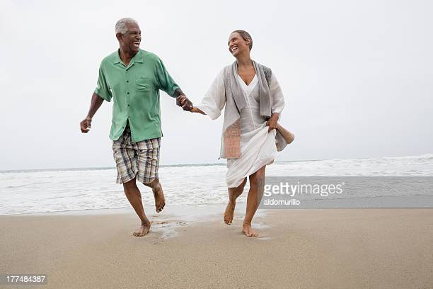 Senior couple on the beach