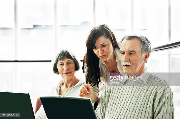 Senior couple on the seminar