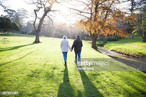 Senior couple outdoors together