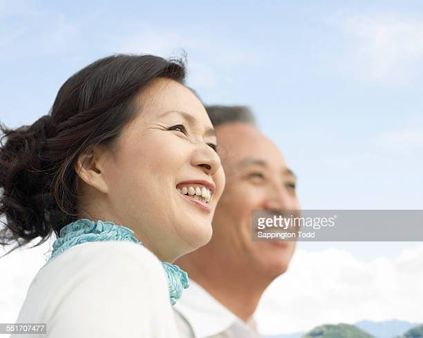 Senior Couple Overlooking The Distant