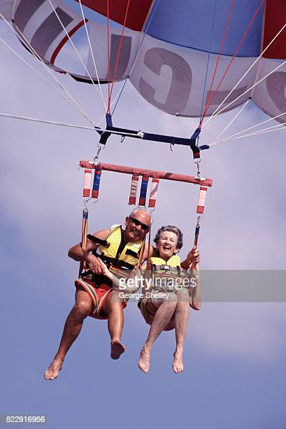Senior Couple Parasailing