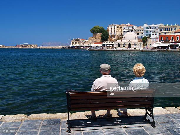 Senior Couple Resting On The Bench