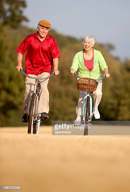 Senior Couple Riding Bikes