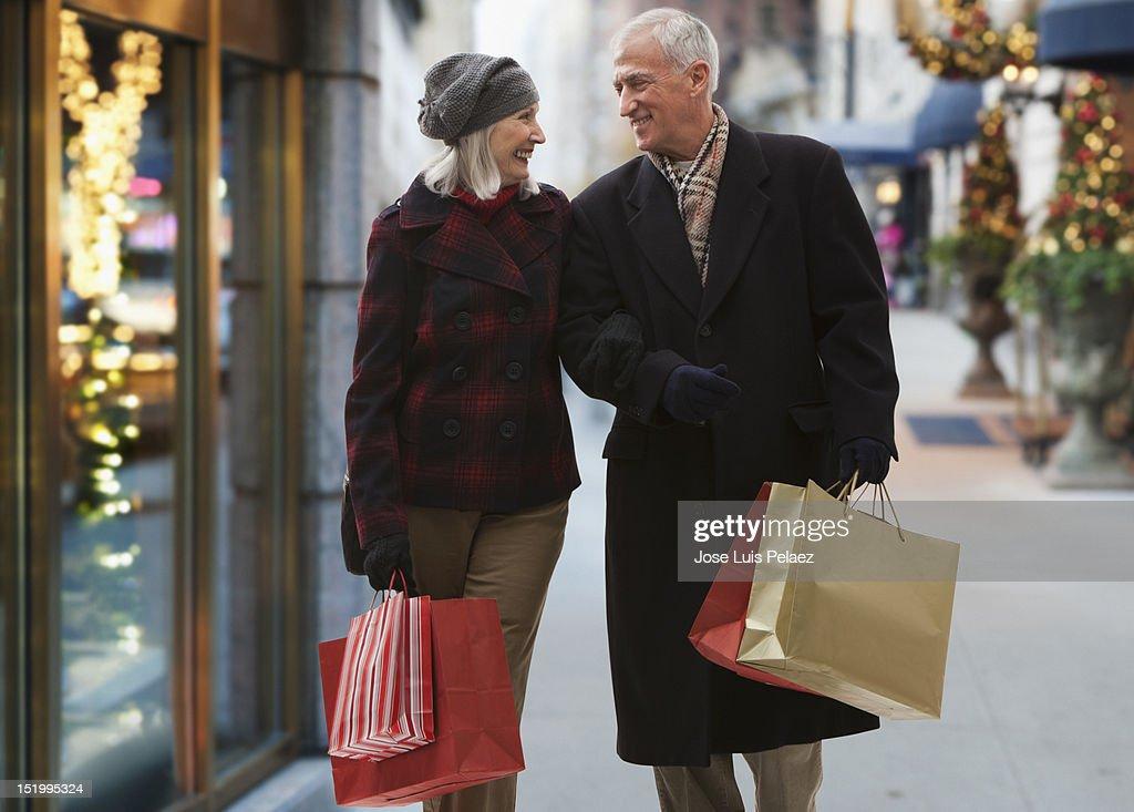 Senior couple shopping : Stock Photo