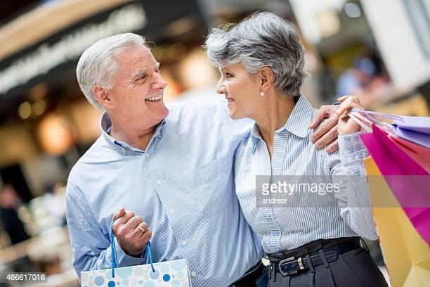 Senior couple shopping