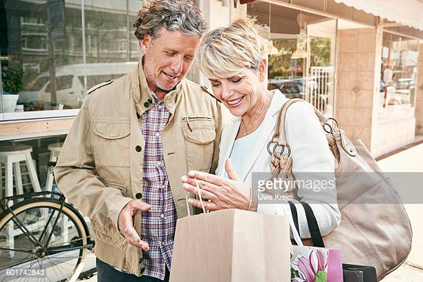 Senior couple shopping
