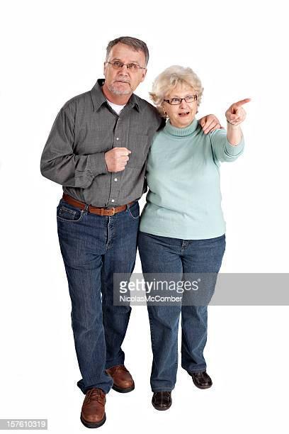 couple âgé de visites