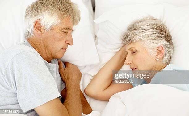Senior couple sound asleep