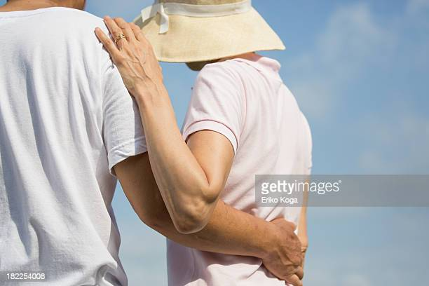 Senior Couple Touching Each other