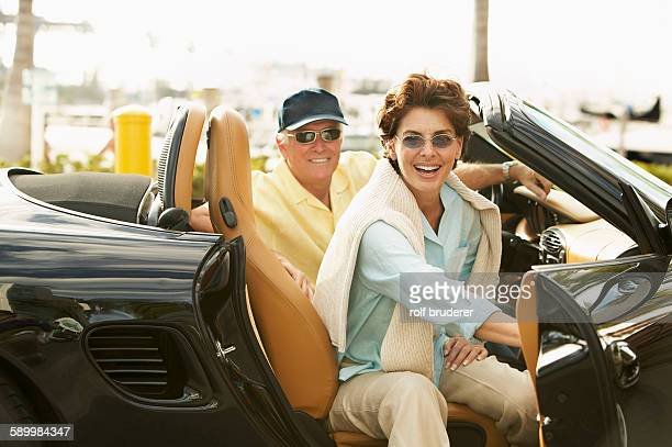 Senior Couple with Convertible Sports Car