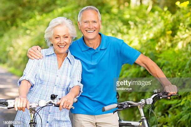 Senior Couple With Their Bicycles.