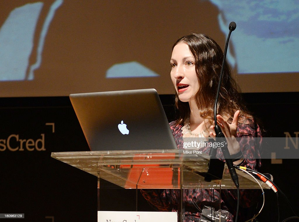 Senior Creative Planning Manager at Getty Images Pam Grossman speaks onstage at the NewsCred Content Marketing Summit 2013 at The New Museum on September 18, 2013 in New York City.