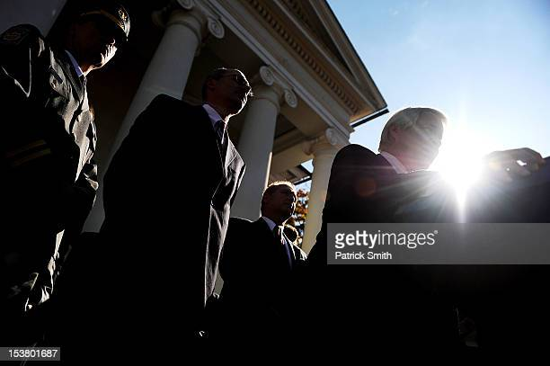 Senior Deputy Attorney General Joseph McGettigan III answers questions to the media outside the Centre County Courthouse following former Penn State...