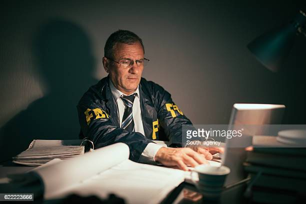 Senior detective working late hours