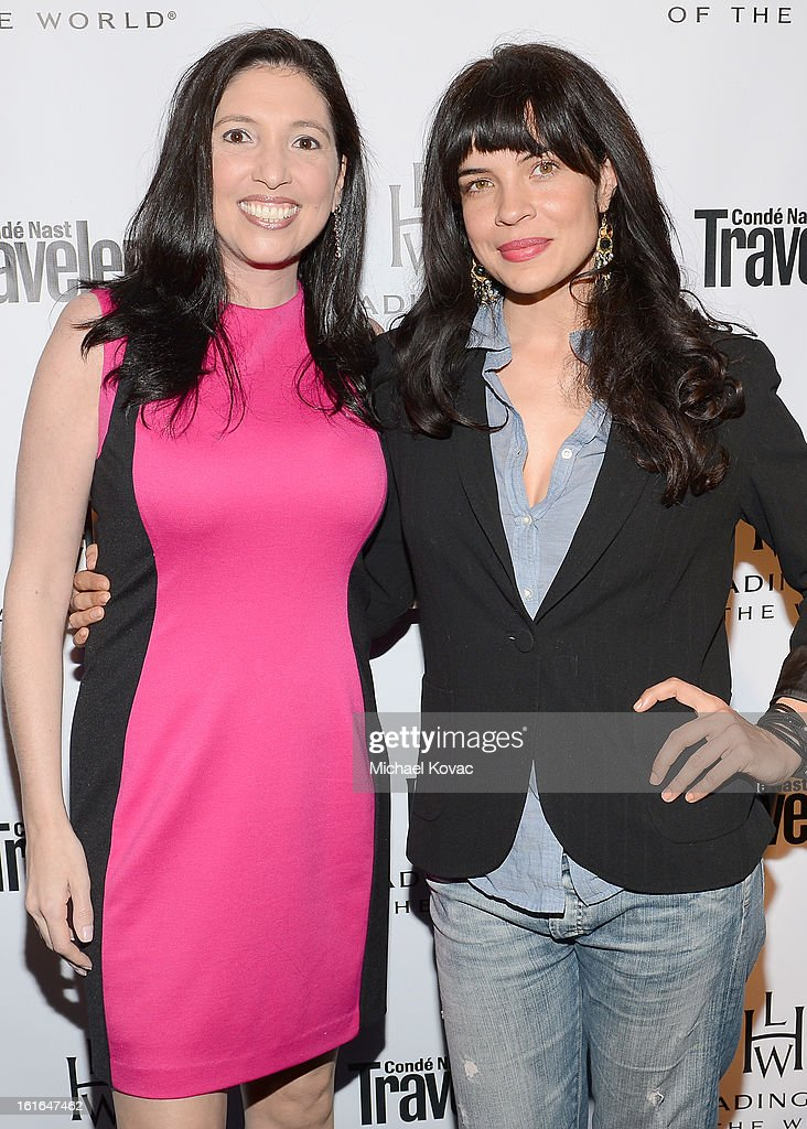 Senior Director, Communications at The Leading Hotels of the World, Jennifer Oberstein and actress Zuleikha Robinson join Conde Nast Traveler as they celebrate The Leading Hotels Of The World 85th Anniversary at Mr. C Beverly Hills on February 13, 2013 in Beverly Hills, California.