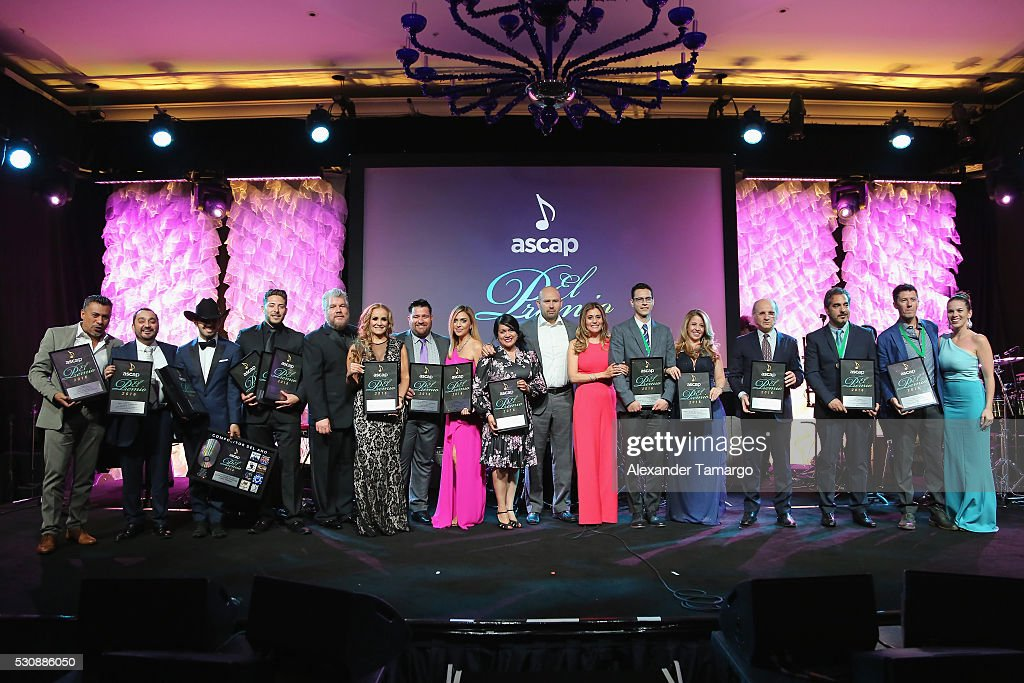 Senior Director Jorge Rodriguez presents awards to the Regional Mexican award winners at 2016 ASCAP Latin Music Awards on May 11 2016 in Miami Florida
