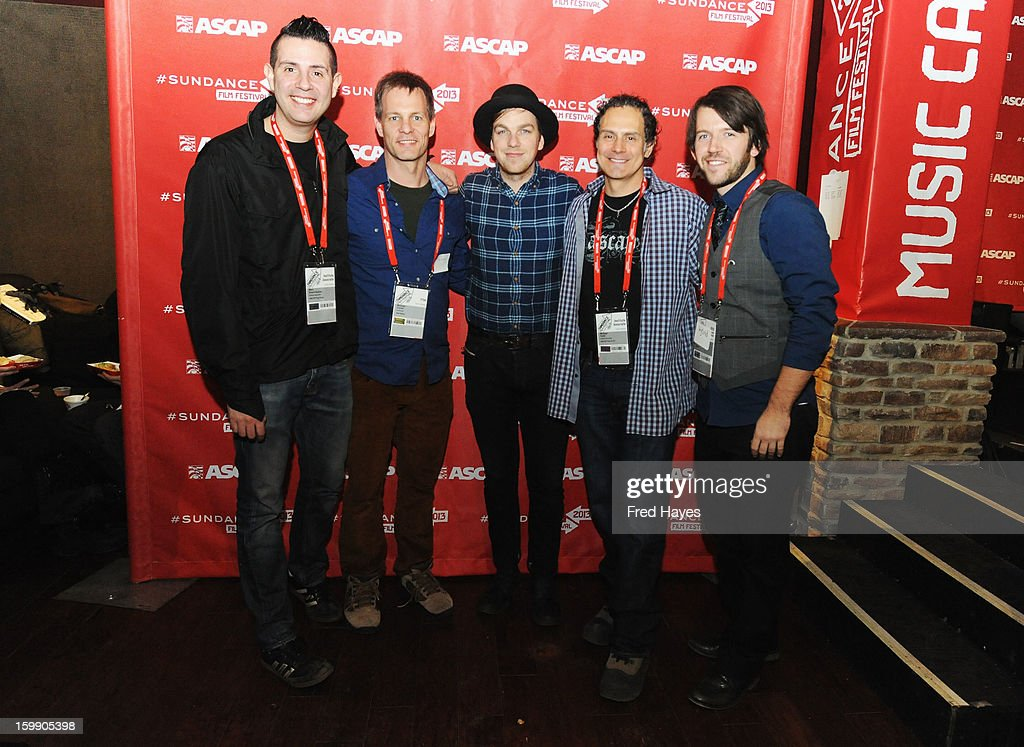 Senior Director, Membership - Pop/Rock ASCAP Marc Emert Hutner, Michael Farrell, Greg Holden, Sr. Director of Film & Television Music at ASCAP <a gi-track='captionPersonalityLinkClicked' href=/galleries/search?phrase=Michael+Todd+-+Senior+Director+of+ASCAP&family=editorial&specificpeople=91549 ng-click='$event.stopPropagation()'>Michael Todd</a> and composer Wytold attend the ASCAP Composer Filmmaker Cocktail Party at ASCAP Music Cafe during the 2013 Sundance Film Festival on January 22, 2013 in Park City, Utah.