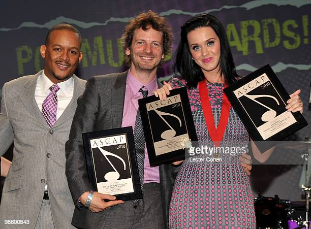 ASCAP Senior Director of Creative Affairs and Membership of Rhythm and Soul Jay Sloan songwriter Lukasz 'Dr Luke' Gottwald and musician Katy Perry...