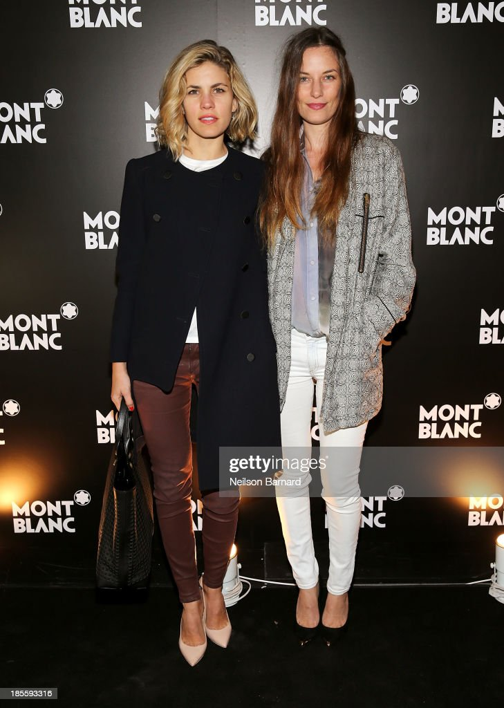 Senior Director of Sales at Reed Krakoff Bianca Duenas and model Topaz Page-Green attend Montblanc celebrates Madison Avenue Boutique Opening at Montblanc Boutique on Madison Avenue on October 22, 2013 in New York City.