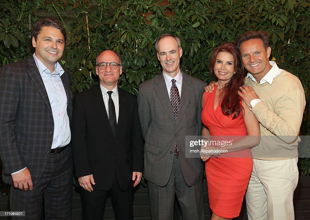 Senior Director of Walmart & Co-Chair of ANA Alliance for Family Entertainment Ben Simon, CEO at Rogers & Cowan Tom Tardio, EVP and Chief Marketing Office of Walmart Stephen Quinn, Executive Producers Roma Downey, Mark Burnett attend Variety's Purpose: The Faith And Family Summit n Association with Rogers and Cowan at Four Seasons Hotel Los Angeles on June 21, 2013 in Beverly Hills, California.