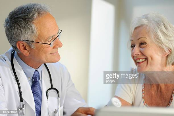 Senior Doctor and Patient