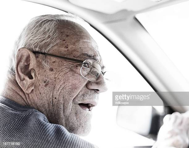 Senior Driver Checking Traffic