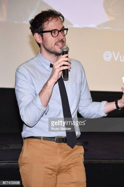 Senior editor at Vulture Jesse David Fox speaks onstage during Vulture Hulu's screening of 'Difficult People' on August 7 2017 in New York City
