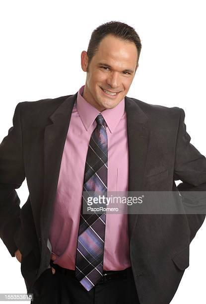 Senior executive smiling
