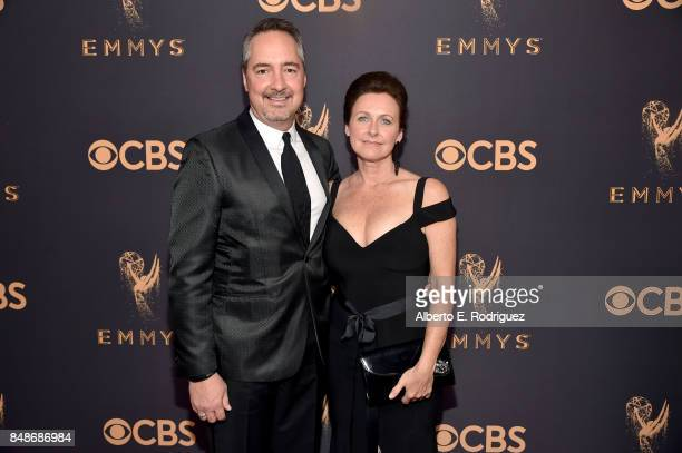 Senior Executive Vice President of Programming Thom Sherman and guest attend the 69th Annual Primetime Emmy Awards at Microsoft Theater on September...