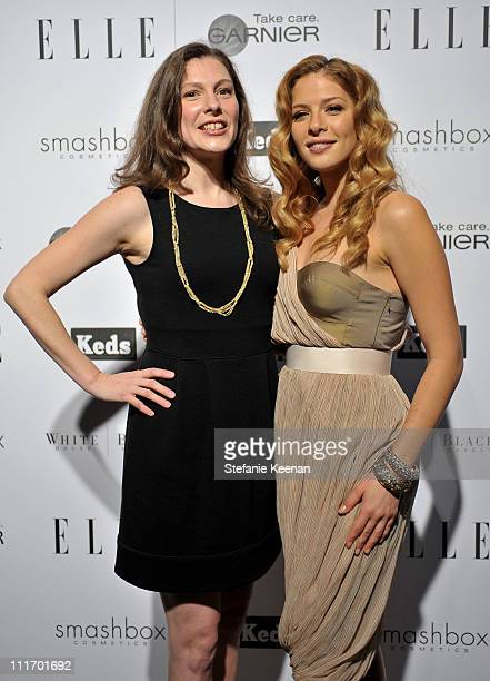 COVERAGE** Senior Feature Editor of ELLE Magazine Jennifer Weisel and actress Rachelle Lefevre attend the ELLE Green Room at the 25th Film...