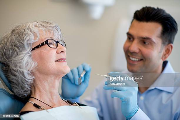 Senior Female at the Dentist