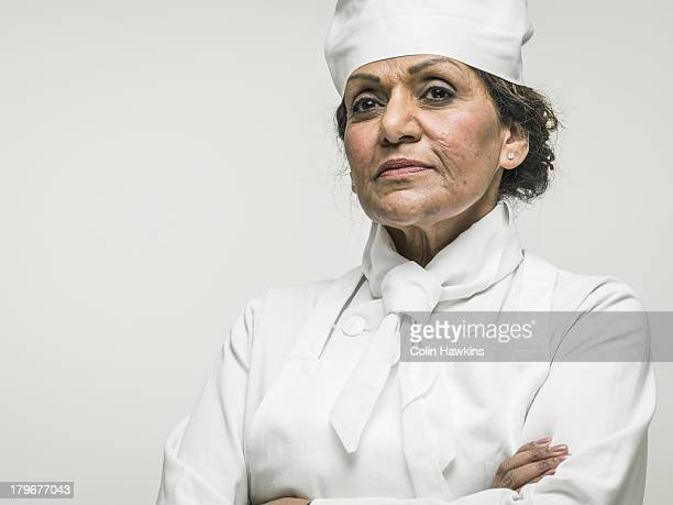 Senior female chef