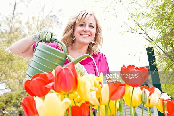 Senior female gardener