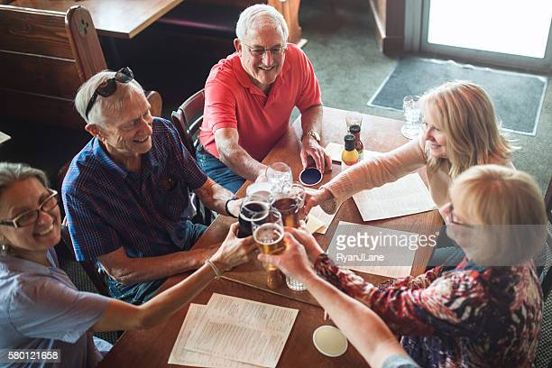 Senior Friends Happy Hour