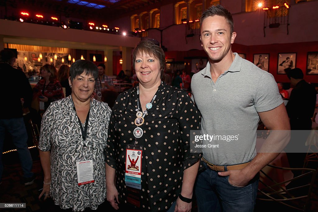 Senior Global Sales Account Executive for Delta Airlines Bryna Dambrowski, Vickie Gleason and Global Sales Account Executive for Delta Airlines Tyler Tixier attend the Delta Passholder Breakfast during day 3 of the TCM Classic Film Festival 2016 on April 30, 2016 in Los Angeles, California. 25826_009