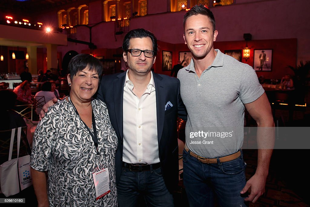 Senior Global Sales Account Executive for Delta Airlines Bryna Dambrowski, radio & TV personality <a gi-track='captionPersonalityLinkClicked' href=/galleries/search?phrase=Ben+Mankiewicz&family=editorial&specificpeople=678440 ng-click='$event.stopPropagation()'>Ben Mankiewicz</a> and Global Sales Account Executive for Delta Airlines Tyler Tixier attend the Delta Passholder Breakfast during day 3 of the TCM Classic Film Festival 2016 on April 30, 2016 in Los Angeles, California. 25826_009
