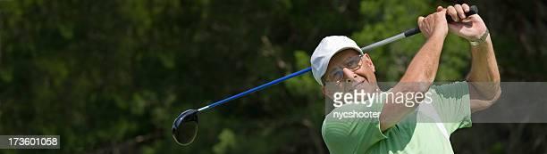 Senior golfer banner