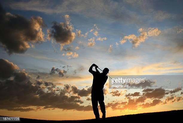 Senior Golfer Silhouette