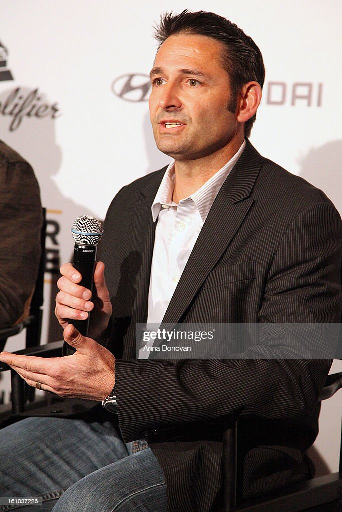 Senior group manager of new media at Hyundai Motor America Jon Budd attends a special pre-GRAMMY media presentation and press conference at The Conga Room at L.A. Live on February 8, 2013 in Los Angeles, California.
