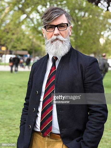 Senior hipster business man portrait