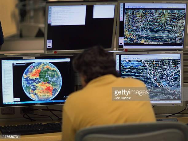 Senior hurricane forecaster Dr Jack Beven studies computer models as he tracks Tropical Storm Arlene at the National Hurricane Center on June 29 2011...
