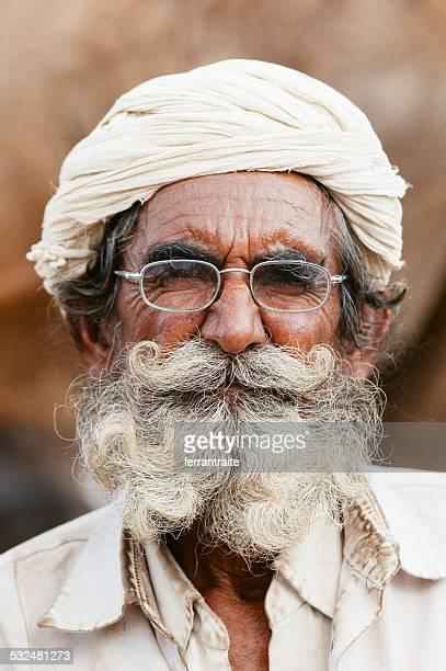 Senior Indian horse trader in Pushkar India