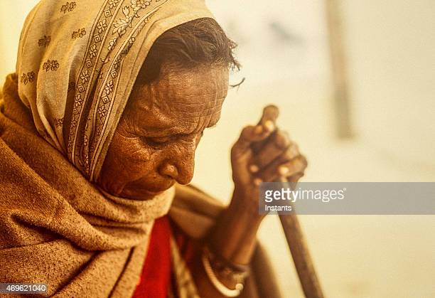 Senior mujer India