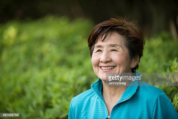 Senior Japanese woman smiling
