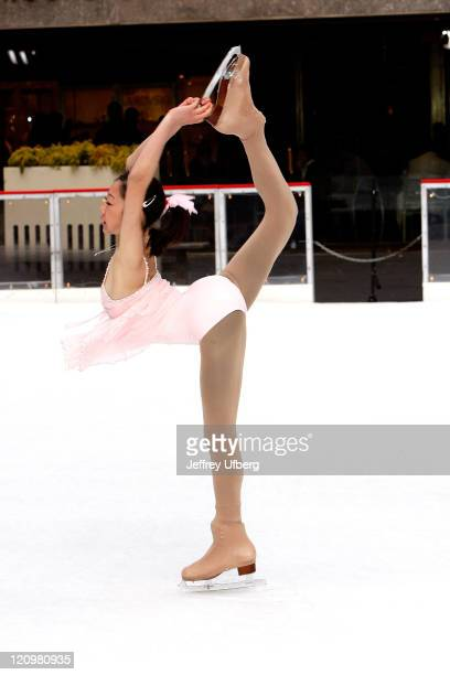 S Senior Ladies National Champion and 2007 World Junior Silver Medalist Mirai Nagasu performs on the Today Show at The Rink at Rockefeller Center on...