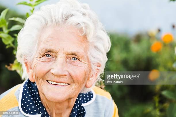Senior lady looking at camera